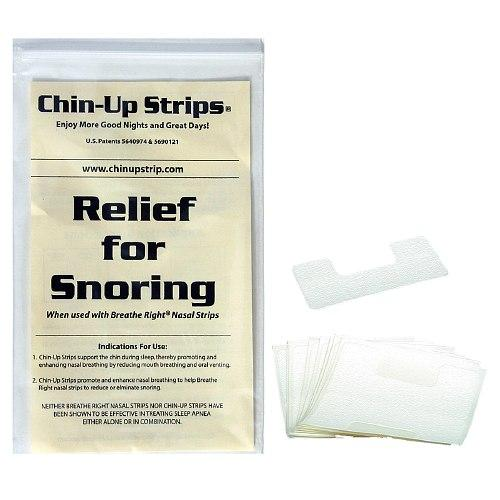 CPAP-Clinic Accessories : # 11130 Chin Up Strips Horseshoe , White, (30 Strips)-/catalog/accessories/11130-01
