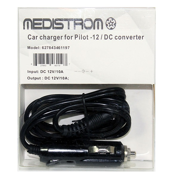 CPAP-Clinic Accessories : # CarCharger-12 Pilot-12 Car Charger  , DC Converter-/catalog/accessories/Medistrom/car-charger-p12-1