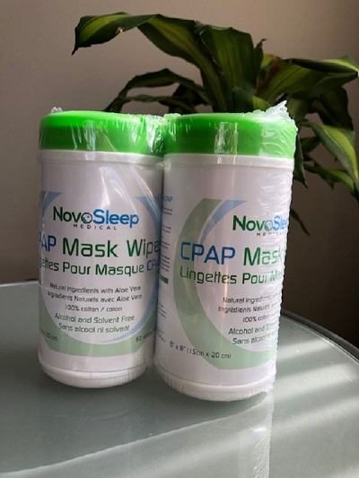 NovoSleep Accessories : # NS1002 CPAP Cleaning Wipes All natural ingredients with Aloe Vera, bundle , 2 canisters of 62 wet wipes each-/catalog/accessories/NovoSleep/NS1002-01