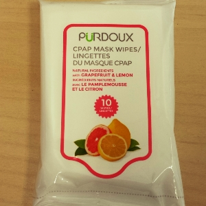 CPAP-Clinic Accessories : # 752256-1 Purdoux CPAP Wipes (Grapefruit & Lemon) Single Travel Pack , 10 Wipes per-/catalog/accessories/cpap_clinic/752256-01
