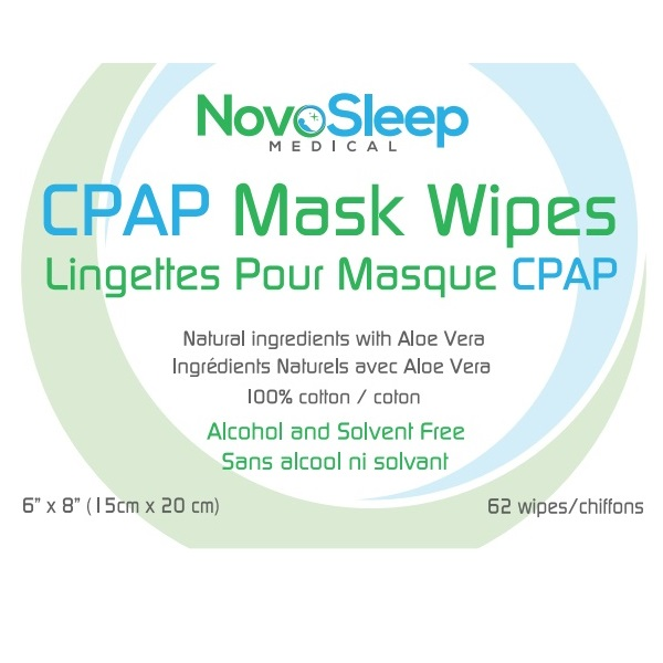 NovoSleep Accessories : # NS1002 CPAP Cleaning Wipes All natural ingredients with Aloe Vera, bundle , 2 canisters of 62 wet wipes each-/catalog/accessories/cpap_clinic/NS1001-01