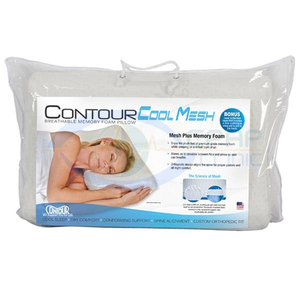 KEGO Anti-Snoring : # 900248 Contour Cool Mesh Memory Foam Pillow-/catalog/accessories/kego/900248-02