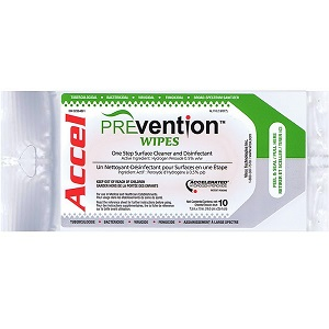 KEGO Accessories : # ACCPREVW-SP-1 ACCEL PREVention Ready to Use  Wipes Soft Pack     , 10 Wipes (7.5inches X 10 inches)