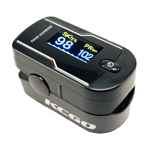 KEGO Accessories : # KG-KG1020 Deluxe Finger Pulse Oximeter  , Features a Dual Colour LE