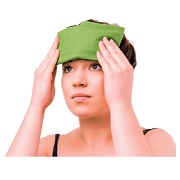 CPAP: Therapeaz Sinus/Eye Mask with green flannel wrap