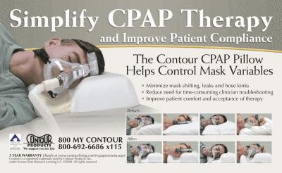 CPAP-Clinic Body-Support : # 900270 Contour CPAP Pillow with Wipeable Cover