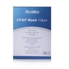 ResMed Accessories : # 61919 CPAP Mask Wipes for travel , 14 single sachet wipes
