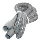 CPAP: Universal Tubing Clear-Gray, Ribbed