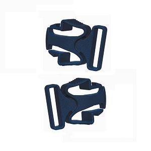 ResMed Replacement Parts : # 61353 Mirage Liberty and Quattro FX Lower Headgear Clips , 2/ Pkg (Navy)