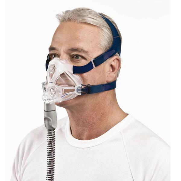 ResMed CPAP Full-Face Mask : # 61701 Quattro FX with Headgear  , Medium (Navy)-/catalog/full_face_mask/resmed/61700-02