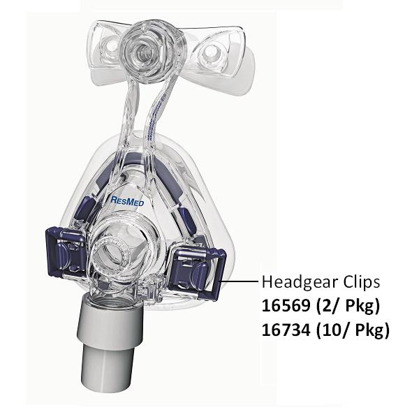 ResMed Replacement Parts : # 16734 Mirage Activa LT, Mirage Micro, Mirage Micro for Kids, Mirage SoftGel and Ultra Mirage II Headgear Clips , 10/ Pkg (Blue)-/catalog/nasal_mask/resmed/16569-03
