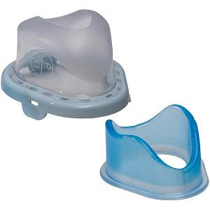 Philips-Respironics Replacement Parts : # 1071863 TrueBlue Gel Cushion and Flap , Medium
