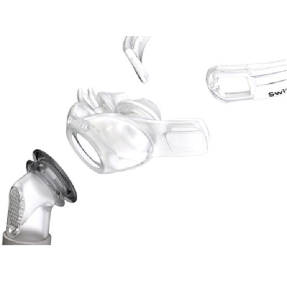 ResMed CPAP Nasal Pillows Mask : # 61500 Swift FX with Headgear , Small, Medium, Large Pillows-/catalog/nasal_pillows/resmed/Resmed-Swift-FX-03