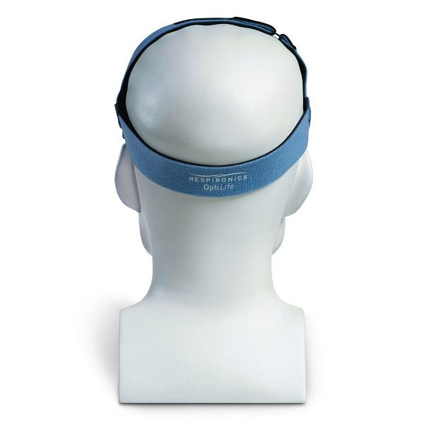 Philips-Respironics CPAP Nasal Pillows Mask : # 1036832 OptiLife with Headgear and Chin Support Band , P, S, M, L Pillows Only-/catalog/nasal_pillows/respironics/1036834-04